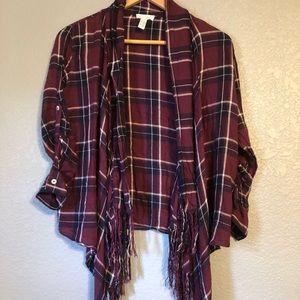 Full tilt- fringed flannel